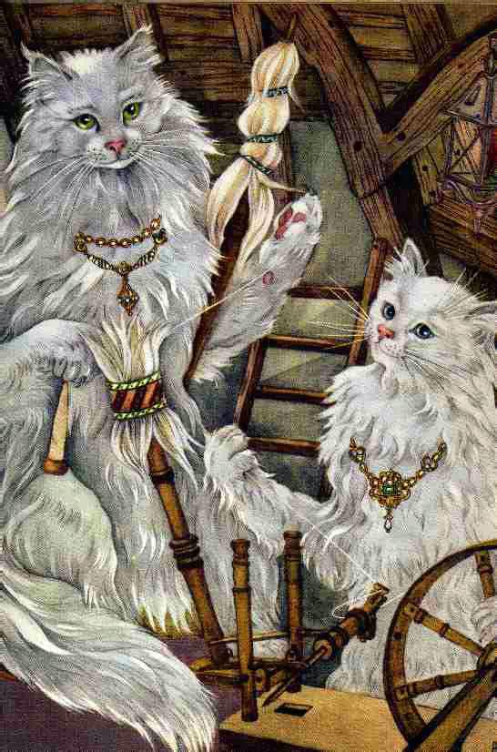 Cats Spinning Yarn