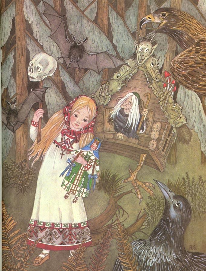 Vasilissa at Baba Yaga's House