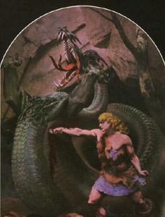 Konrad Dielitz: Siegfried and Fafnir