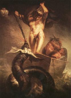 H. Fuseli: Thor slaying Midgard Dragon