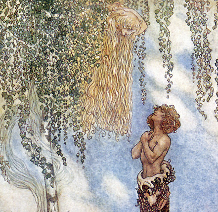 He Found Her Hiding in a Tree, John Bauer