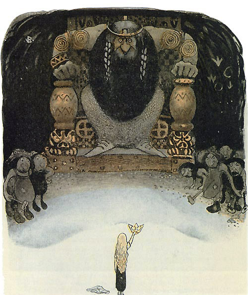 I Have the Crown  Lord of the Day  John Bauer illustration