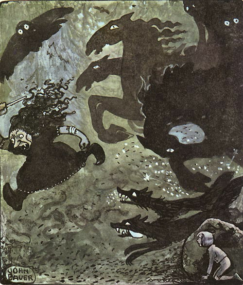 Witch of Hulta Wood  Later paintings  John Bauer illustration