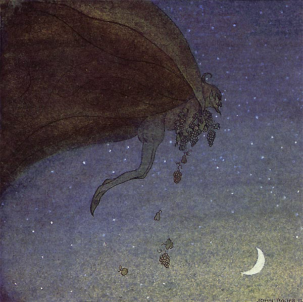 Magician's Fruits  - John Bauer The Magicians Cape  fairy tale illustration. Pinned for later from artsycraftsy.com/bauer/