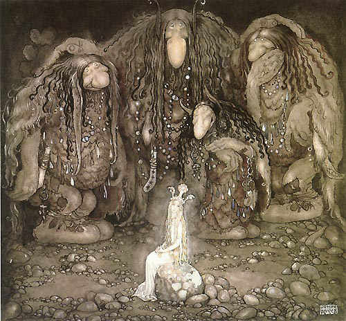 The Princess and the Troll Sons, by John Bauer