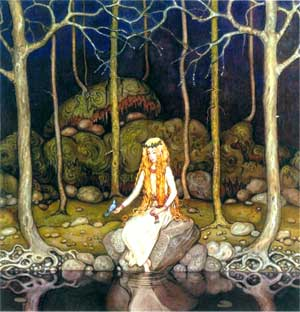 Princess in the Forest, by John Bauer art print