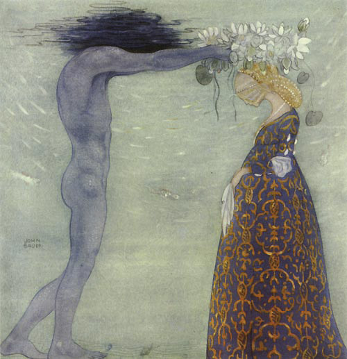The Coronation of the Sea Queen, by John Bauer
