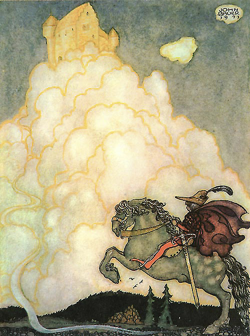 Riding the Airy Highway  - John Bauer Bland Tomtar Och Troll  fairy tale illustration. Pinned for later from artsycraftsy.com/bauer/