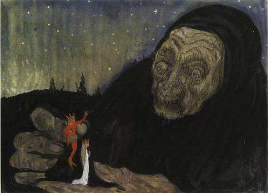 Troll Gumma  - John Bauer Later paintings  fairy tale illustration. Pinned for later from artsycraftsy.com/bauer/