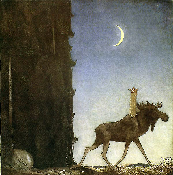 Leap the Elk by John Bauer