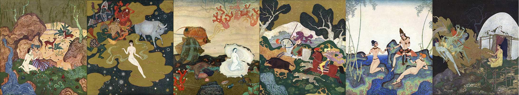 A selection of Edmund Dulac art prints at artsycraftsy.com