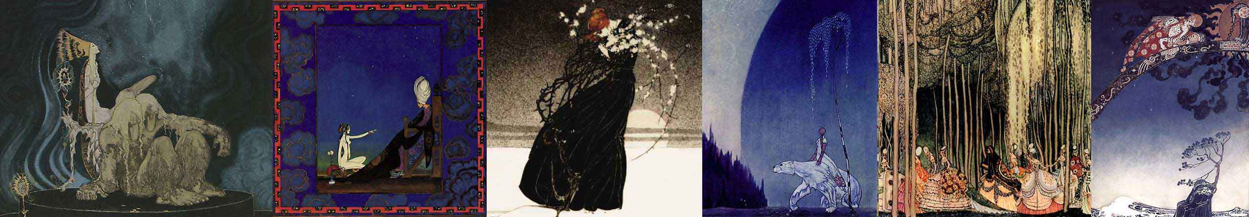 A selection of Kay Nielsen art prints at artsycraftsy.com