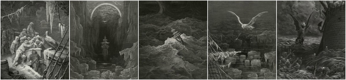 Gustave Dore illustrations to Rime of the Ancient Mariner, 1876 edition, Plates 1-12.  Art Prints at Artsy Craftsy