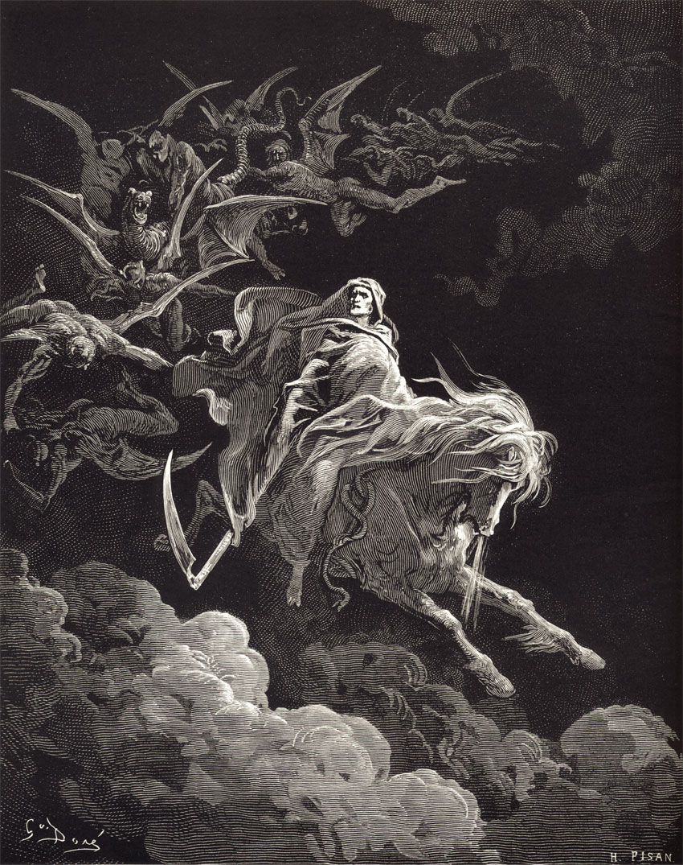 Revelation: Death on a Pale Horse.  Gustave Dore art print