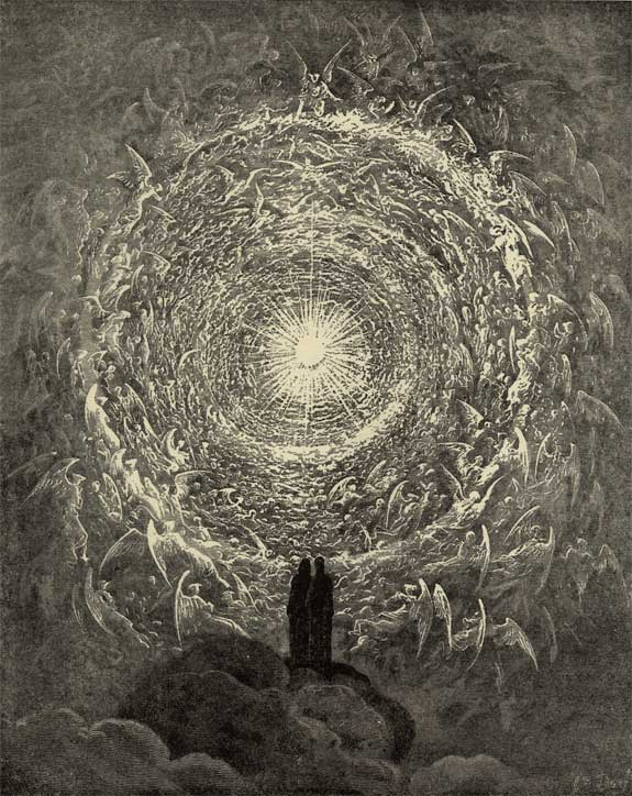 The Celestial Host in the Form of a Rose, Gustave Dore art print