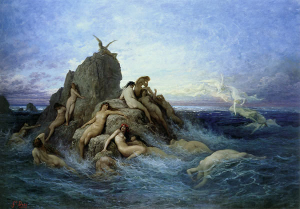 Gustave Dore, Naiads of the Sea. Artsy Craftsy: The Art of Myth and Fairy Tale