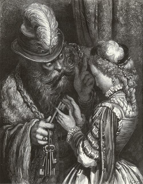 Bluebeard. Gustave Dore art print