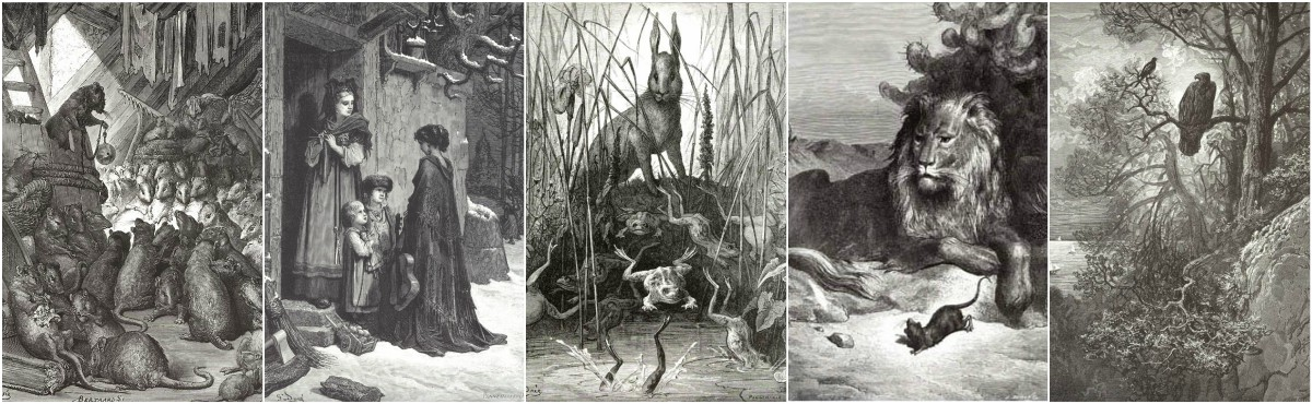 Gustave Dore illustrations to Perrault's Fairy Tales and the Fables de La Fontaine. Art Prints at Artsy Craftsy