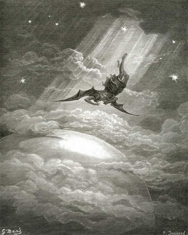 Gustave Dore Illustrations.  The Fall of Satan.