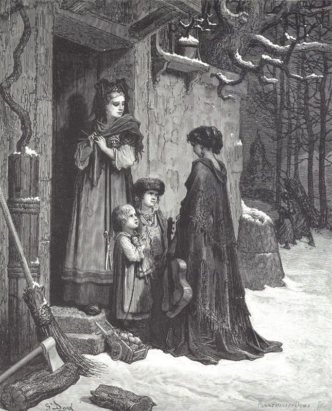 The Fable of the Grasshopper and the Ant.  Gustave Dore art print