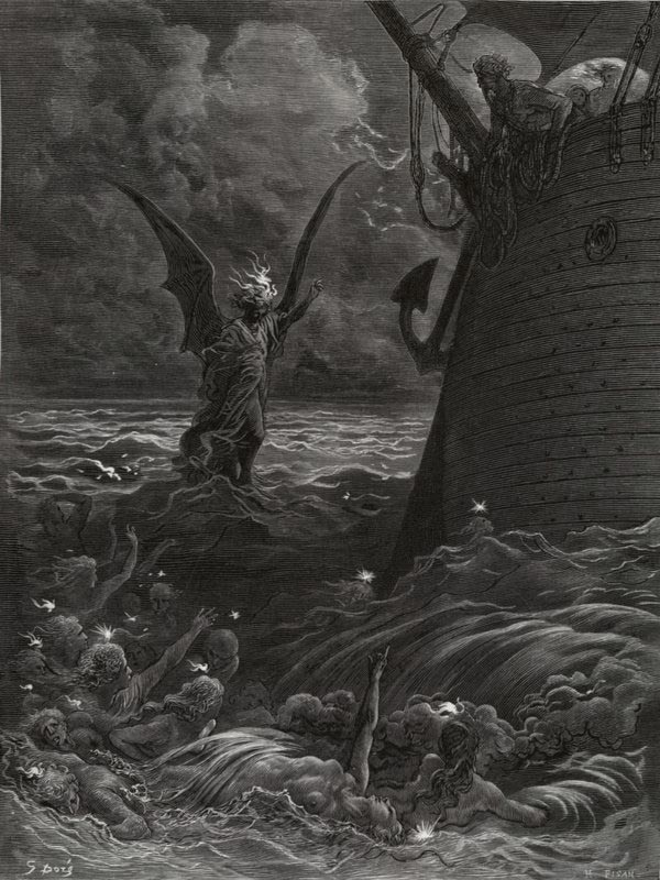 The Death Fires Danced at Night. Gustave Dore art print