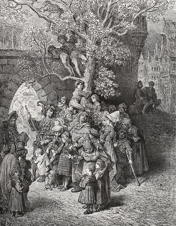 What loud uproar bursts from that door!  Gustave Dore art print