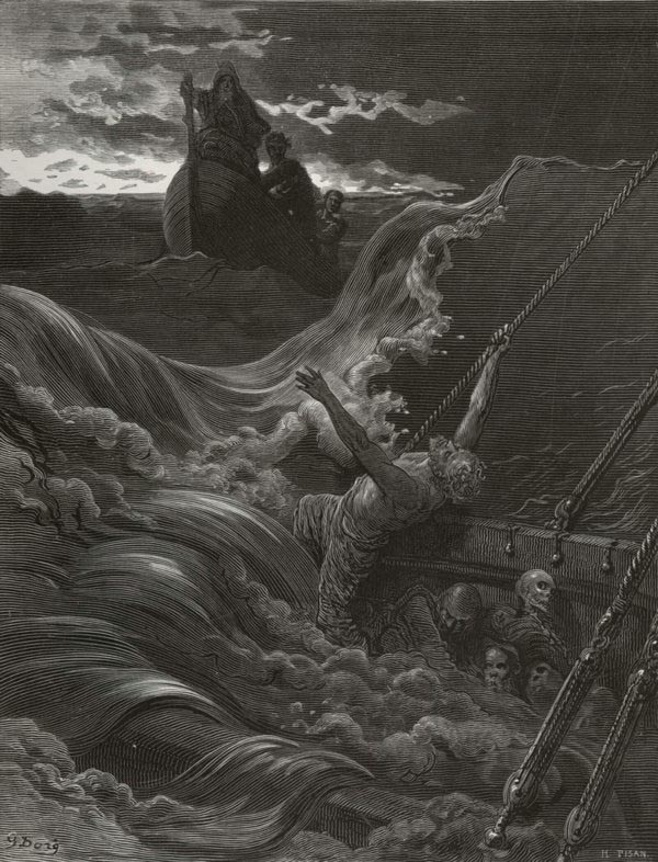 The Skiff Boat. Gustave Dore art print