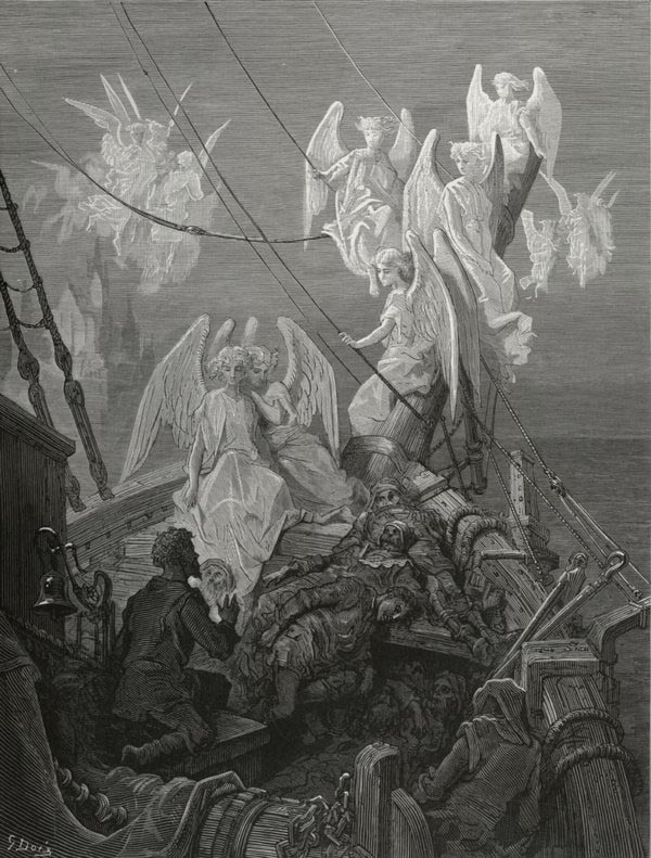 The Seraph band. Gustave Dore art print
