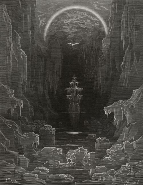 The ice was all around. Gustave Dore art print