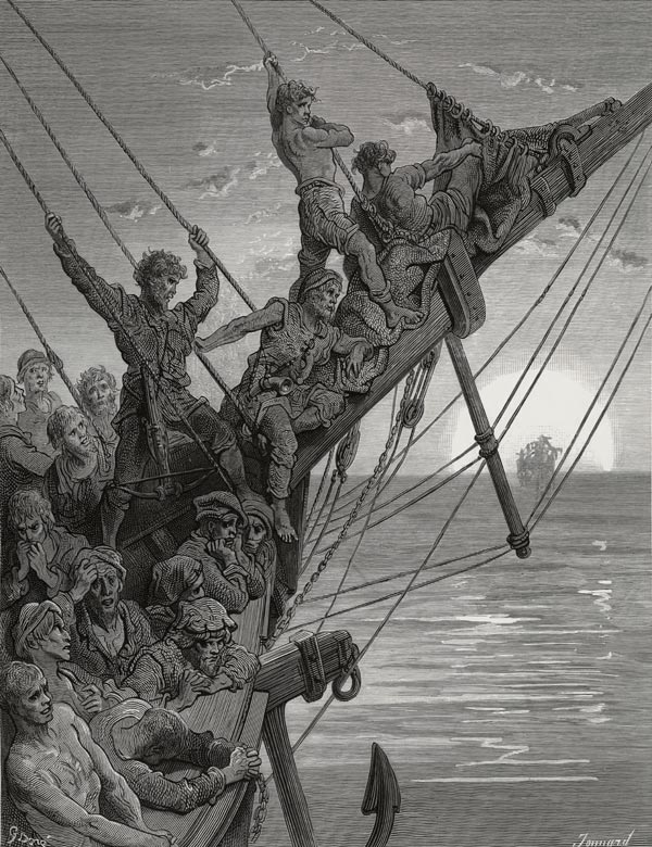 The Death Ship Nears. Gustave Dore art print