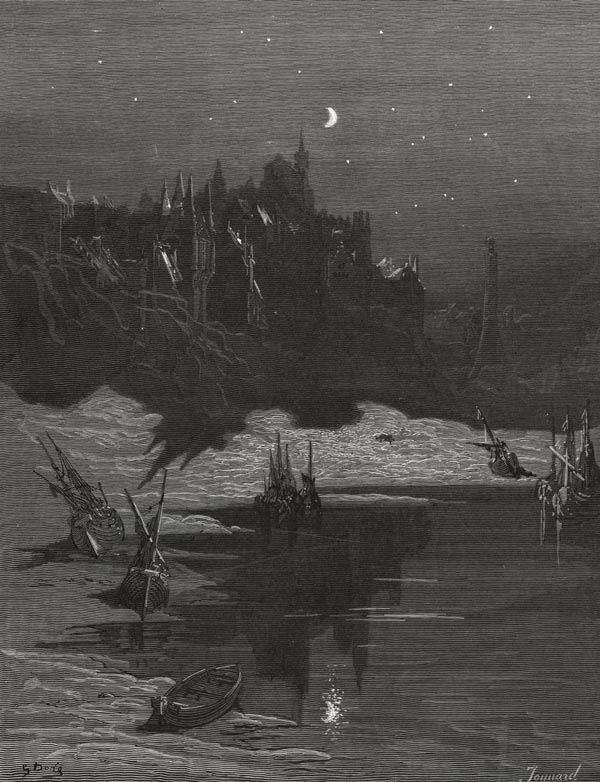 The Shadow of the Moon. Gustave Dore art print
