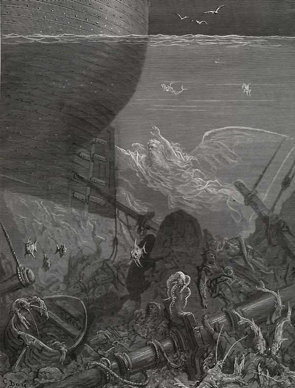 Nine fathoms deep. Gustave Dore art print
