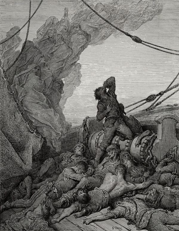 No saint took pity on my soul. Gustave Dore art print