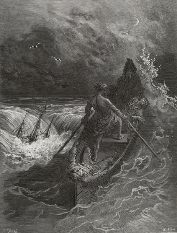 The Pilot. Gustave Dore art print