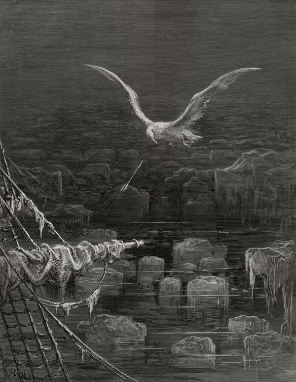 I shot the Albatross. Gustave Dore art print