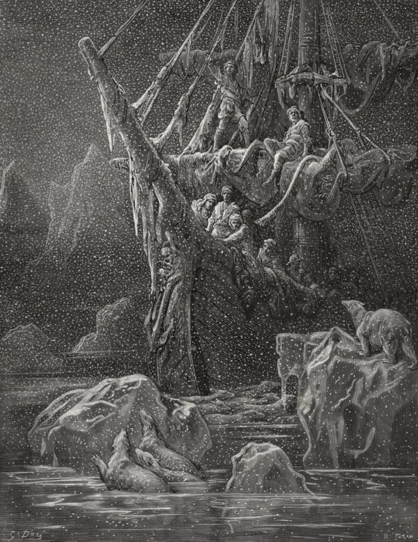 It grew wondrous cold. Gustave Dore art print