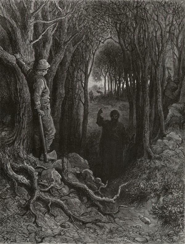 Strange Power of Speech. Gustave Dore art print