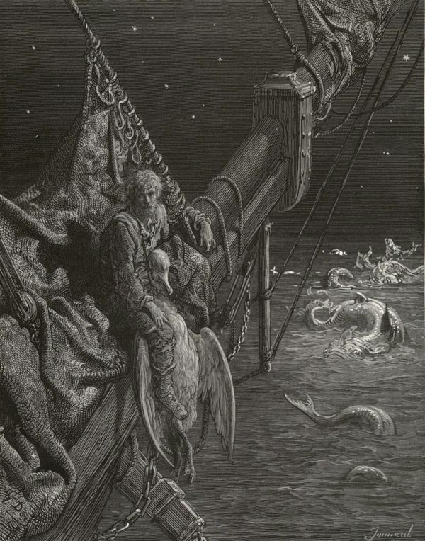 I watched the water snakes. Gustave Dore art print