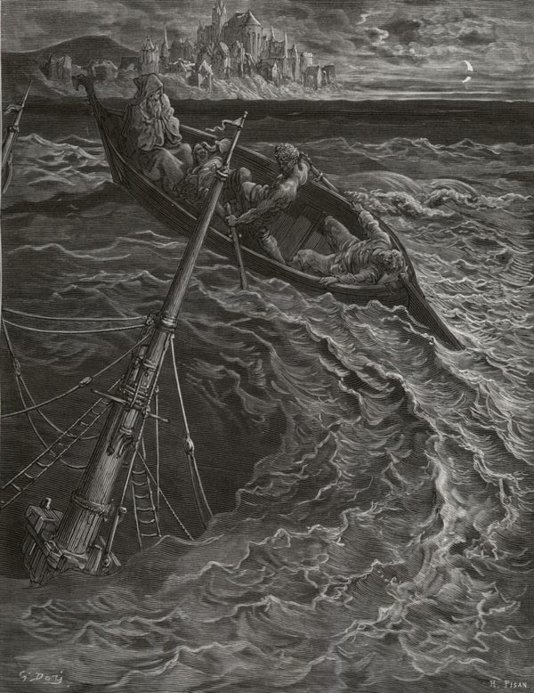 The Whirl. Gustave Dore art print