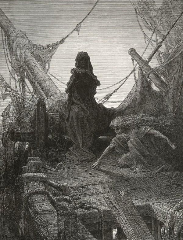 The Game is Done! I've won! I've won! Gustave Dore art print