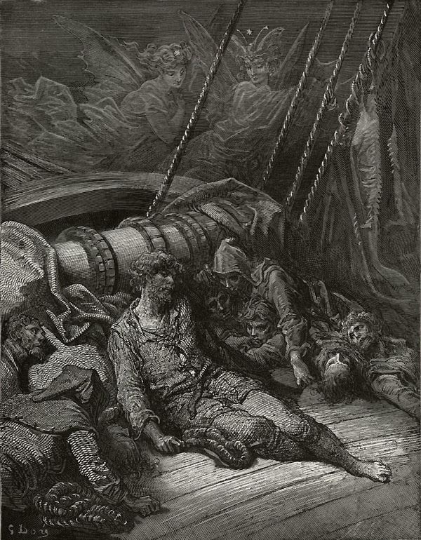 Voices in the air from The Rime of the Ancient Mariner - by Gustave Dore