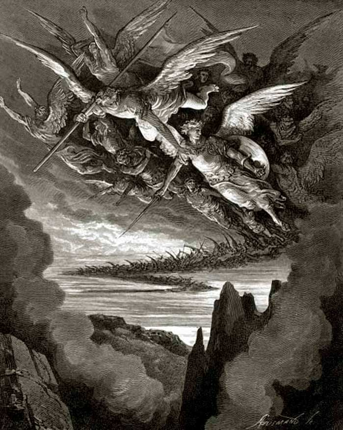 So numberless were those bad angels, Gustave Dore art print