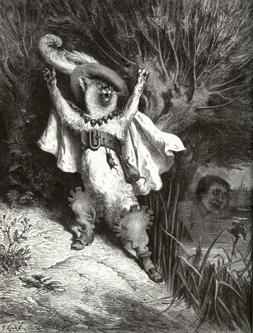 Puss in Boots. Gustave Dore art print