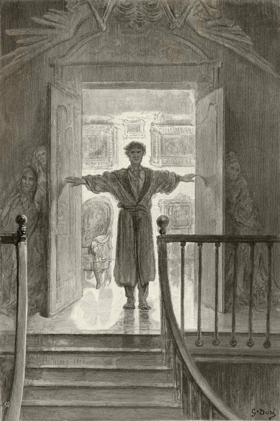 Darkness there, and Nothing More. Gustave Dore art print