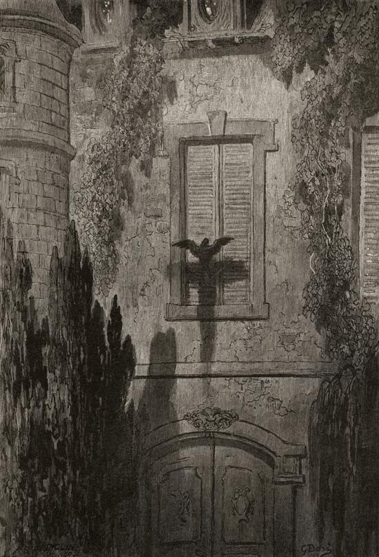 Something at my Window Lattice. Gustave Dore art print