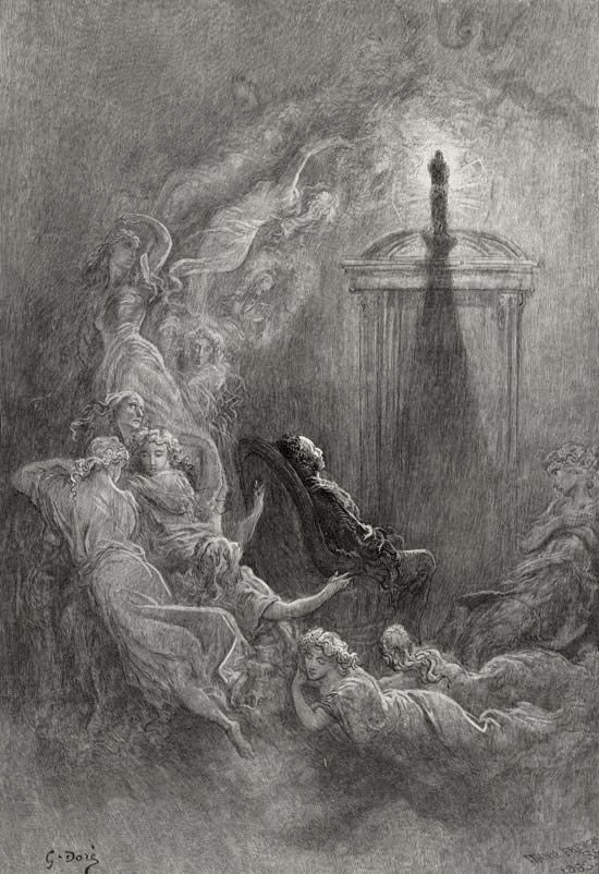 Other Friends have Flown Before. Edgar Allan Poe, The Raven and Other Poems. Gustave Dore art print