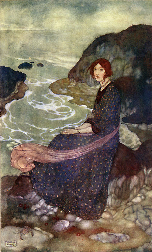 Abysm of Time : Edmund Dulac illustration to The Tempest. Edmund Dulac Art Print, artsycraftsy.com