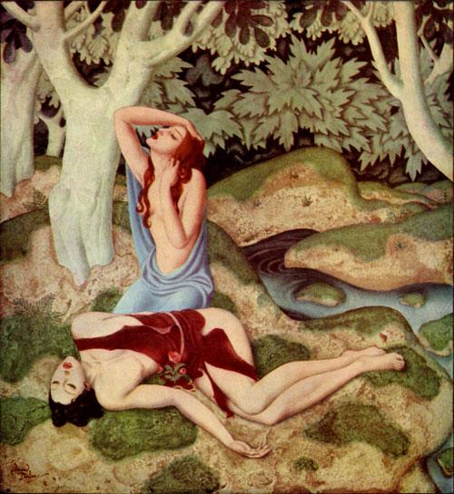 Aphrodite and Adonis, by Edmund Dulac
