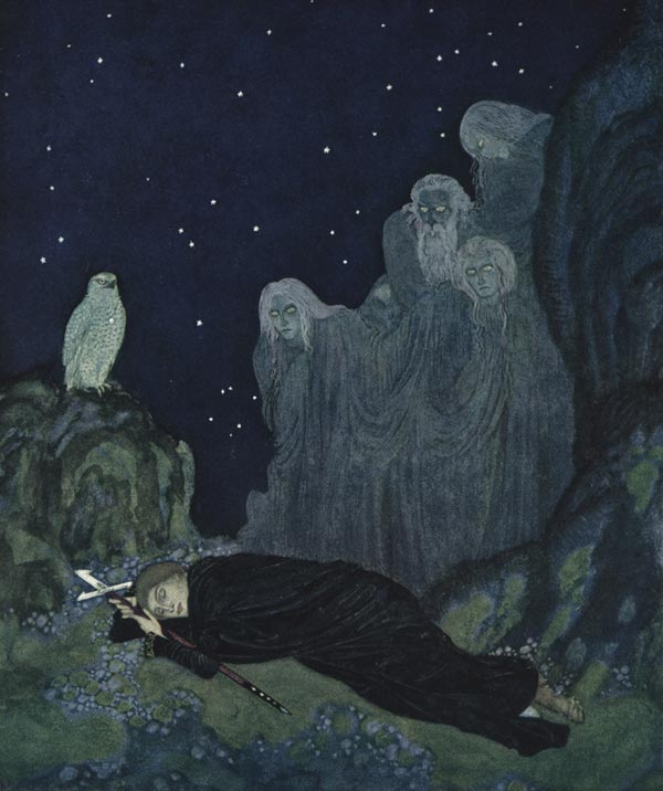 Circle of Mist. Illustration to The Dreamer of Dreams by Marie, Queen of Roumania -  by Edmund Dulac