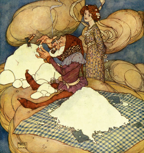 Drop of Crystal was too busy to speak, by Edmund Dulac